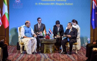 Rajnath Singh hits out at countries using terrorism for political gains