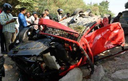 Woman killed as car falls off Hyderabad's Biodiversity Park flyover