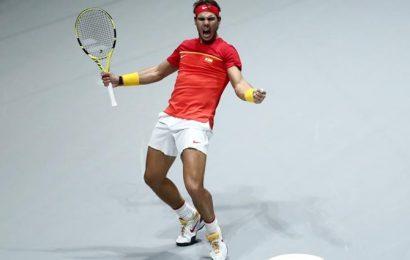 PIX: Nadal rescues Spain but heartbreak for Djokovic's Serbia