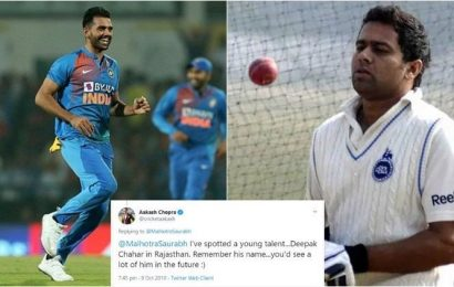 Aakash Chopra spotted Deepak Chahar's talent nine years ago, tweet goes viral