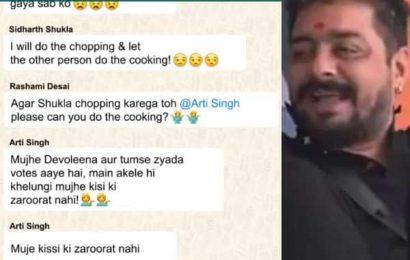 Bigg Boss 13 WhatsApp chat LEAKED! Hindustani Bhau farts while Rashami Desai, Sidharth Shukla and Arti Singh argue over house duties | Bollywood Life