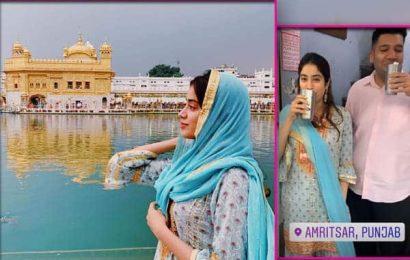 Dostana 2 की शूटिंग शुरू करने से पहले Janhvi Kapoor ने टिकाया स्वर्ण मंदिर में मत्था, अमृतसर की लस्सी का लिया मजा