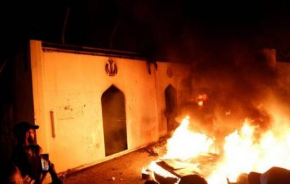 Iraq protesters torch Iran consulate in Najaf, curfew imposed
