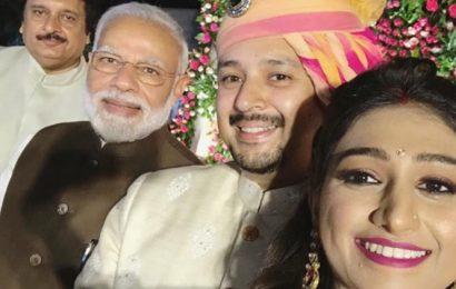 PM Narendra Modi attends Mohena Kumari Singh's Delhi wedding reception, see photos and videos