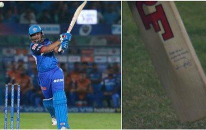 Prithvi Shaw dazzles for Mumbai, fans spot India captain's signature on his bat