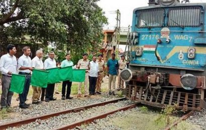 First freight rake service from Sankari to Vanjipalayam flagged off