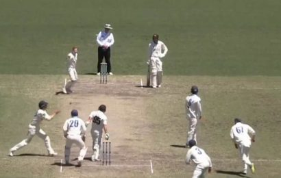 Watch: Steve Smith's bizarre wicket in Sheffield Shield leaves batsman shocked