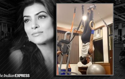 Sushmita Sen is acing it like a gymnast, giving us major fitness goals