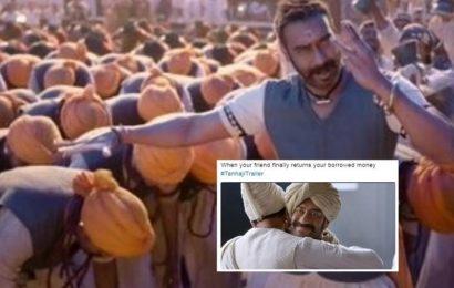 Ajay Devgn's Tanhaji trailer inspires hilarious memes, reminds Twitter of his paan masala ad