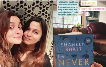 Alia Bhatt reads sister's book, calls it 'the best book ever' as Shaheen plays hide and seek. See pic