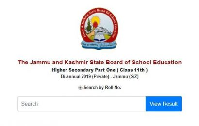 JKBOSE 11th biannual Jammu Summer zone results declared at jkbose.ac.in