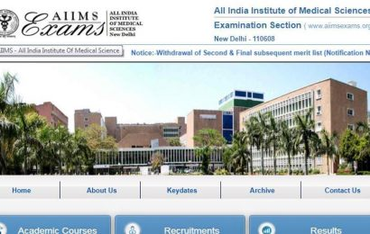 AIIMS PG Result for January 2020 session expected today at aiimsexams.org