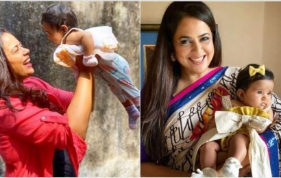 Sameera Reddy shares pic with daughter asks 'how in our country the girl child was considered a burden'