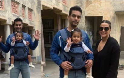 Neha Dhupia, Angad Bedi visit Bishan Bedi's ancestral haveli on Mehr's first birthday, he shares first clear picture of granddaughter
