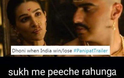 #PanipatTrailer: Arjun Kapoor and Kriti Sanon's scene has brewed a meme storm! | Bollywood Life