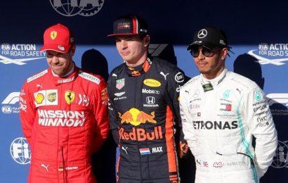 Max Verstappen on pole for Brazilian Grand Prix, Vettel comes in second, Hamilton third