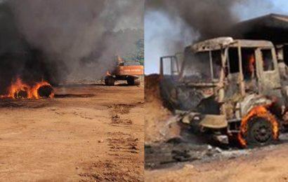 Chhattisgarh: Maoists set vehicles on fire at NMDC's mining facility in Dantewada