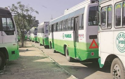 Mohali bus operators use open space outside PUDA office as parking space