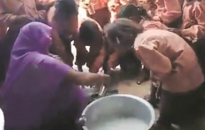 One litre milk diluted to serve 81 students in UP school