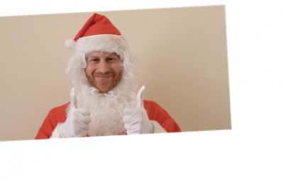 Prince Harry Dresses Up as Santa for a Sweet Children's Charity Video