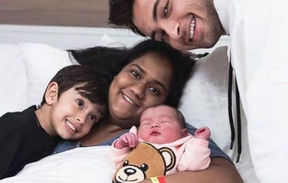 Arpita Khan and daughter Ayat get discharged from hospital; spotted with husband Aayush Sharma and son Ahil – watch video | Bollywood Life