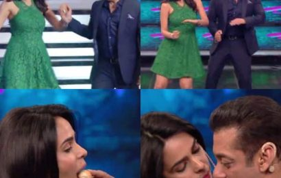 Bigg Boss 13: Salman Khan feeds macaroons to Mallika Sherawat in a fun task — watch video   Bollywood Life