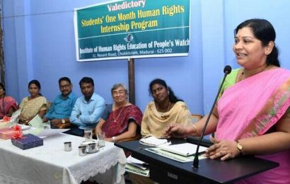 College students complete internship on human rights