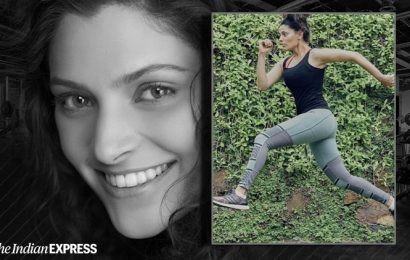 Don't underestimate a foam roller; Saiyami Kher shows us why