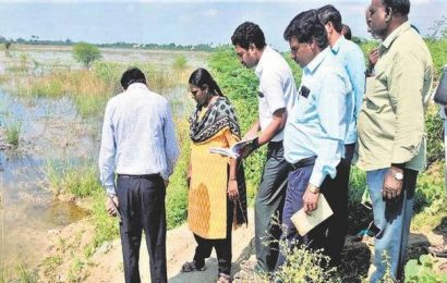 Ranipet Collector surveys lakes ahead of spruce-up