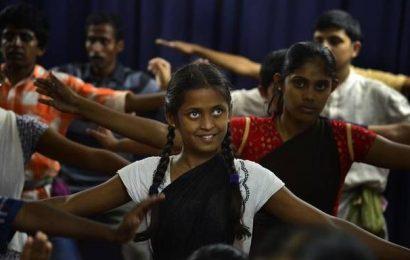 Bharatanatyam by Ramana Maharishi Academy for Blind students: Dancing in the dark