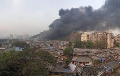 Fire breaks out in a godown in Mumbai's Saki Naka
