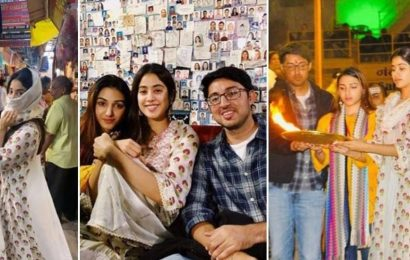 Janhvi Kapoor goes sight-seeing in Varanasi with friends, hides her face from the crowd. See pics, video