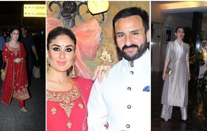Kareena Kapoor, Karisma, Saif Ali Khan shine at Armaan Jain's roka, Rishi Kapoor, wife Neetu attend. See pics, video
