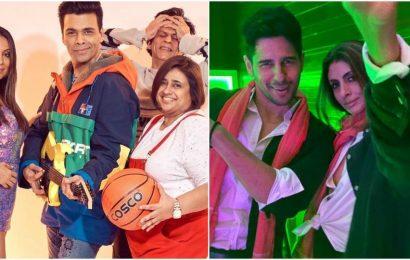 Shah Rukh Khan embarrassed as Karan Johar-Gauri Khan recreate Kuch Kuch Hota Hai look, Shweta Nanda dresses up as Amitabh Bachchan