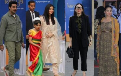 Abhishek-Aishwarya attend daughter Aaradhya's school function on day 2, Shah Rukh Khan, Vidya Balan also spotted. See pics