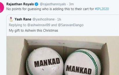 Rajasthan Royals take a cheeky dig at Ravichandran Ashwin regarding 'Mankad' comment