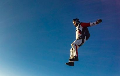 Groom skydives into his wedding, video goes viral