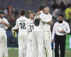 Australia thrashes New Zealand in first Test