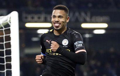 Premier League:Gabriel Jesus finds goal touch as Manchester City bounce back to thrash Burnley