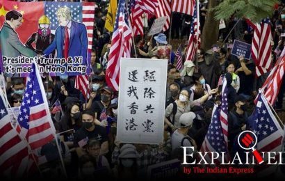 Explained: Why are protesters in Hong Kong marching with US flags?