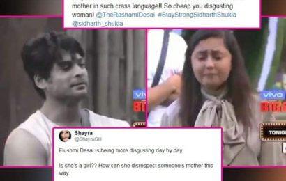 Bigg Boss 13: Sidharth Shukla की मां को नौकरानी बताने पर फैंस के निशाने पर आई Rashami Desai, गुस्साए लोग बोले- 'तुम्हारी हिम्मत…'