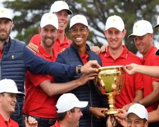 Tiger Woods and US team rally to win Presidents Cup again
