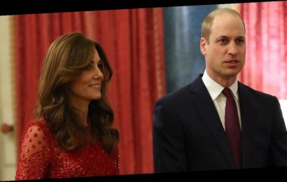 Kate Middleton Stuns in a Glittering Red Dress at Buckingham Palace Reception