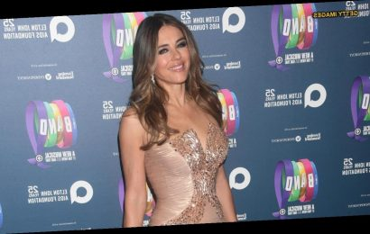 Elizabeth Hurley shows off new look in revealing New Year's dress