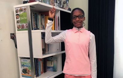 Nigerian teen in pink aims to 'take the golf world by storm'