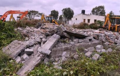 Encroachment removal begins at Hulimavu lake