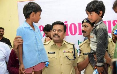 Police officials show the way