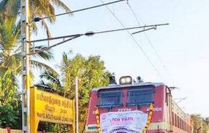 Electrification work over in Cuddalore -Tiruvarur stretch