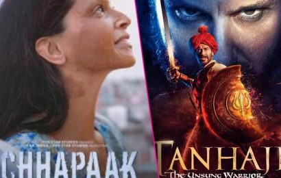 Tanhaji: The Unsung Warrior vs Chhapaak Day 2 Box Office Collection: Ajay Devgn and Deepika Padukone witness growth | Bollywood Life