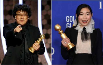 Asian talent shine at Golden Globes with Bong Joon Ho, Awkwafina winning top awards